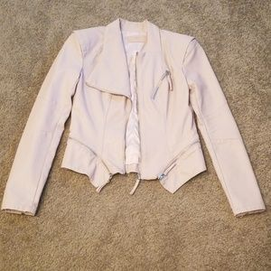 Blank NYC Jackets & Coats - Blanknyc pink faux-leather jacket